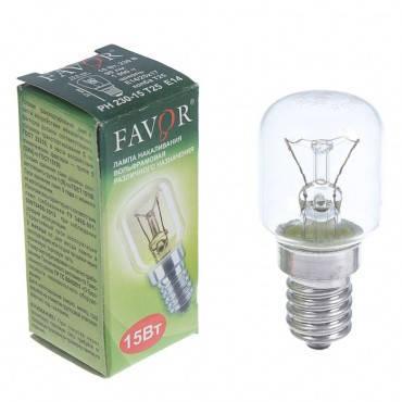 Лампа РН 15 Ватт Т25 Е14 в индивидуальной упаковке (Для холодильника) Калашниково