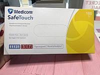 Виниловые медицинские перчатки размер S Medicom SafeTouch 100шт