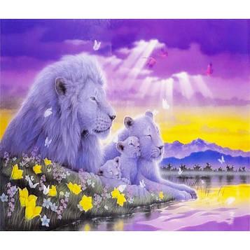 Картина за номерами 40х50 см DIY Білі леви (FX 30446)
