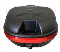 Кофр средний (пластмассовый) 445*385*280мм, крепл. быстросъемное, черный матовый LX-809 (D-02)