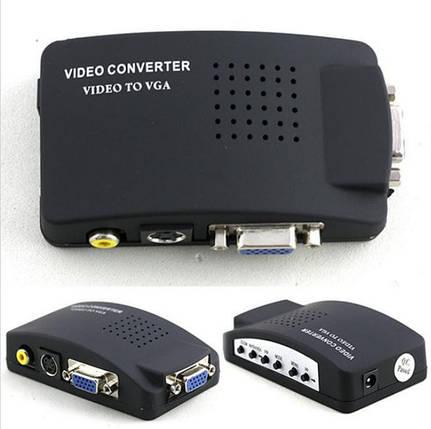Конвертер AV S-Video TV на  VGA (коробка) , фото 2