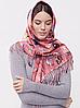 Теплый платок Cashmere Кошки 110*110 см пудровый