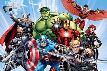 """""""Мстители"""" - Наліпка Герої 11,5*7,5 см."""