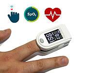 Пульсоксиметр серый с черно белым дисплеем, Oxiometer прибор для измерения кислорода в крови | пульсоксіметр,