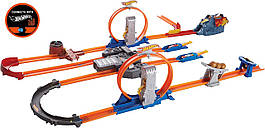 Ігровий набір трек Хот Вілс Подвійне прискорення Hot Wheels Track Builder Total Turbo Takeover Track Set