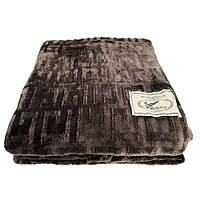 Плед Koloco бамбуковый 200*210 темно-серый
