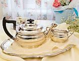 Английский посеребренный заварочный чайник и сахарница, серебрение, Англия, фото 5