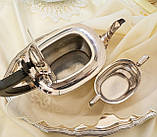 Английский посеребренный заварочный чайник и сахарница, серебрение, Англия, фото 6