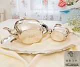 Английский посеребренный заварочный чайник и сахарница, серебрение, Англия, фото 7