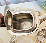 Английский посеребренный заварочный чайник и сахарница, серебрение, Англия, фото 8