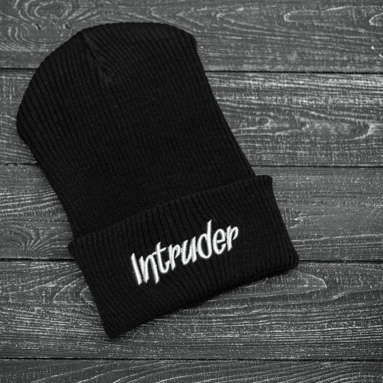 Шапка Мужская/Женская Intruder зимняя big logo черная Intruder
