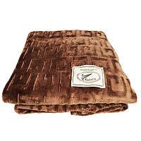 Плед Koloco бамбуковый 200*210 коричневый