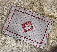 Серветка червона-Сердечко 204203