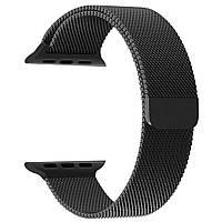 Магнитный ремешок Milanese Loop для Apple Watch 42 / 44 | черный | DK
