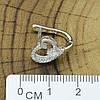 Серебряные серьги размер 13х11 мм вставка белые фианиты вес 3.1 г, фото 2