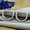 Серебряные серьги размер 17х7 мм вставка белые фианиты вес 5.1 г, фото 3
