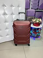 Дорожный чемодан поликарбонат+абс Wings большой L 4 колеса бордовый