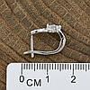 Серебряные серьги размер 6х6 мм вставка белые фианиты вес 2.5 г, фото 2
