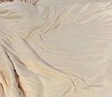 """Комплект постельного белья полуторный из сатина ТМ """"Ловец снов"""", Страйп сатин крем, фото 2"""