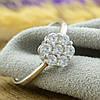 Серебряное кольцо размер 17 вставка белые фианиты вес 2.1 г, фото 2