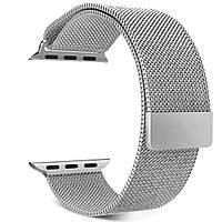Магнитный ремешок Milanese Loop для Apple Watch 42 / 44 | серебристый | DK