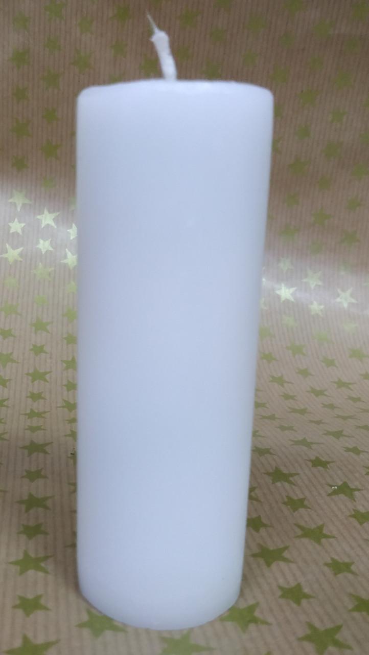 СВЕЧА цилиндр белая 10см (диам.3,6см)