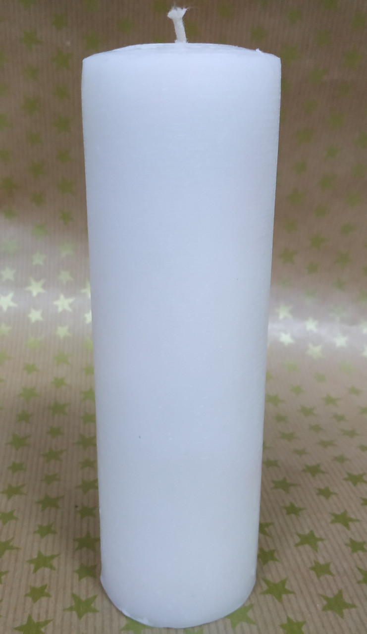 СВЕЧА белая цилиндр  14см (диам.4,6см)