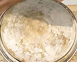 Антикварный посеребренный круглый поднос, серебрение по латуни, Англия, Walker & Hall, фото 3