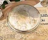 Антикварный посеребренный круглый поднос, серебрение по латуни, Англия, Walker & Hall, фото 5