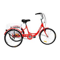 Велосипед грузовой ARDIS CITY LINE 24 CTB ST Красный