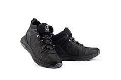 Мужские кроссовки кожаные зимние черные Andante 115