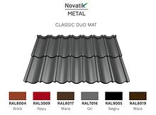 Модульная черепица Novatik Metal Classic Duo МАТ (2-модульный) ArcelorMittal, 0,5 мм
