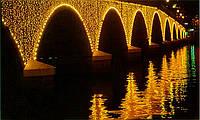 Плей лайт светодиодный занавес (2,4х3) Желтый, фото 1