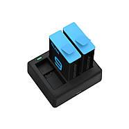 Набор Telesin: Зарядное устройство на три места + два аккумулятора для GoPro HERO 9 Black, фото 2