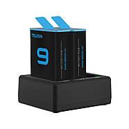 Набор Telesin: Зарядное устройство на три места + два аккумулятора для GoPro HERO 9 Black, фото 5