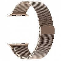 Магнитный ремешок Milanese Loop для Apple Watch 42 / 44 | Old Gold | DK