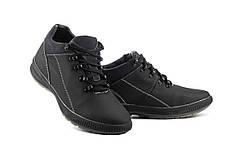 Мужские кроссовки кожаные зимние черные CrosSAV 92
