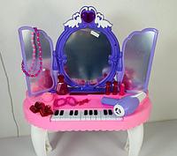 Детский туалетный столик-трюмо 2в1 Limo Toy YL80015 стульчик пианино музыка звук свет аксессуары