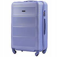 Дорожный чемодан поликарбонат+абс Wings большой L 4 колеса сиреневый лавандовый