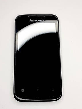 Дисплейний модуль чорний Lenovo A369 / A369 оригінал б.у., фото 2