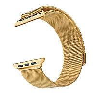 Магнитный ремешок Milanese Loop для Apple Watch 42 / 44 | Gold | DK