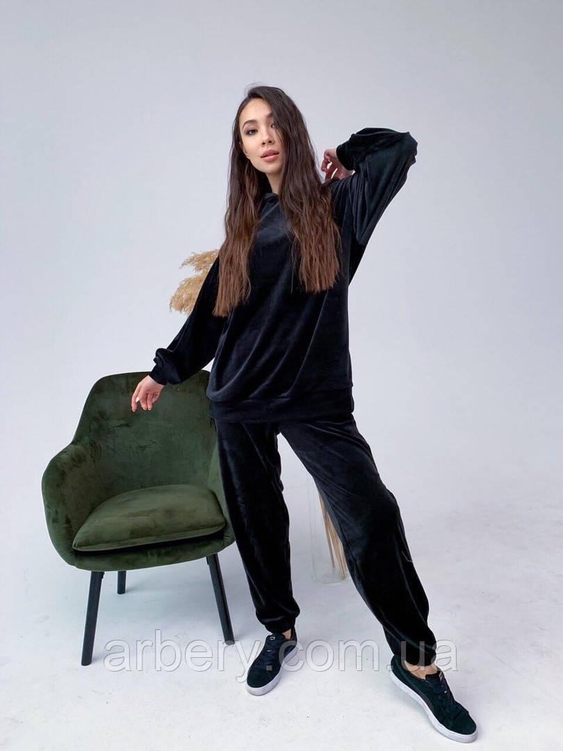 Женский велюровый спортивный костюм Oversize
