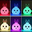 Оригинальный детский ночник Rabbit Silicone Lamp LED аккумуляторный светильник, фото 3