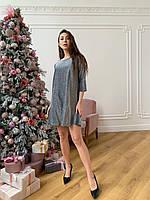 Платье женское К 00567 серебро