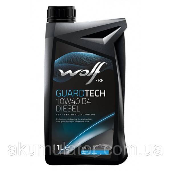 Моторне масло WOLF GUARDTECH 10W-40 B4 DIESEL, 1л