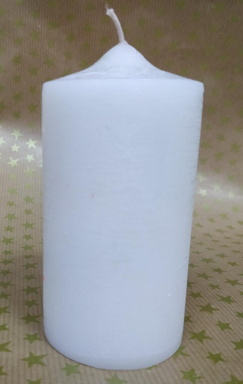 СВЕЧА цилиндр (конусная) белая 11см (диам.6см)