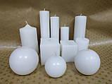 СВЕЧА цилиндр (конусная) белая 11см (диам.6см), фото 2