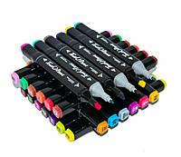 Набор скетч маркеров для рисования Touch Raven 48 PCS, двусторонние профессиональные фломастеры для художников