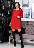 """Женское платье свободного кроя из трикотажа """"Grand""""   Батал, фото 10"""