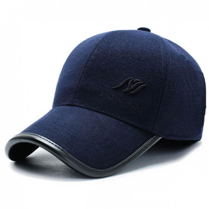 Зимова бейсболка для чоловіків з вухами SGS. Колір: темно-синій